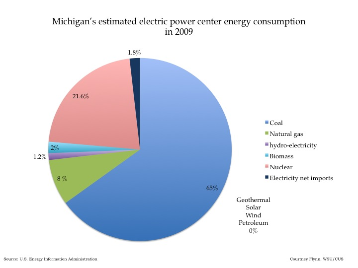 Energy Consumption And Production In Michigan Drawing