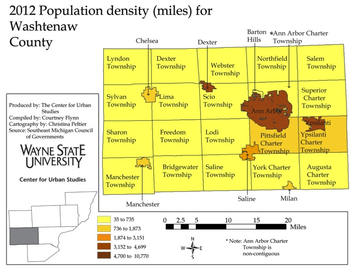 Outlying Counties In Southeast Michigan Have Lower Population Density Drawing Detroit