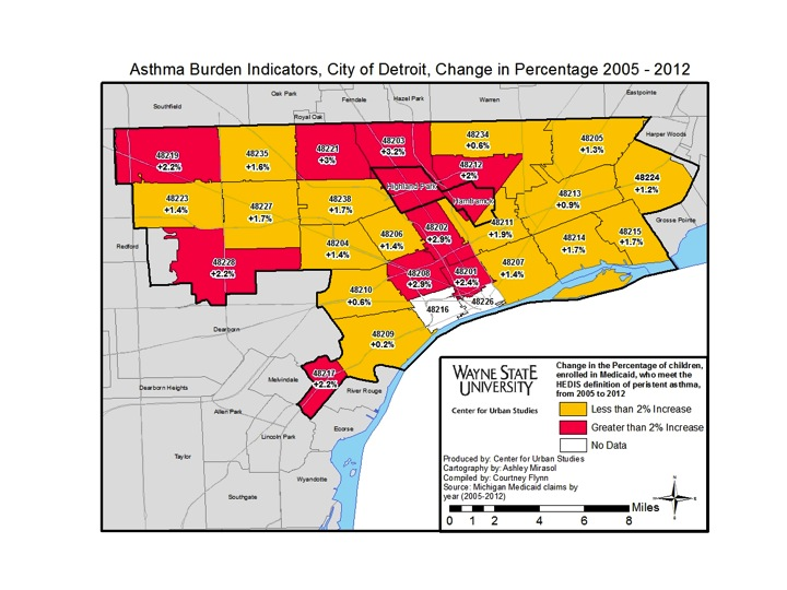 detroit map by zip code Asthma Drawing Detroit detroit map by zip code