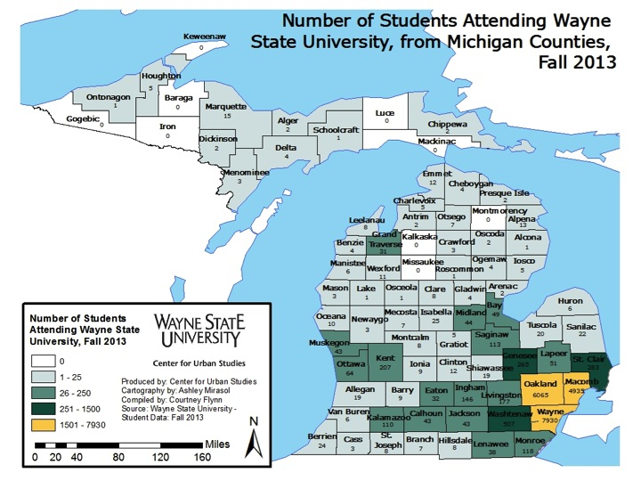 Wayne State, UofM and MSU draw most students from local regional |