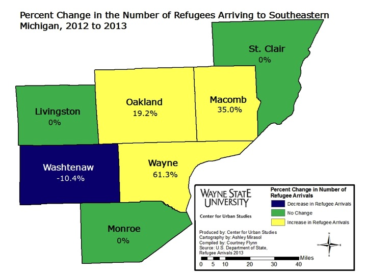 Majority of Michigan's refugees resettle in Oakland County |